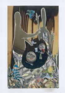 al fresco, Mixed Media Collage by Teresa Blatt, 10in x 7in, $200 (May 2019)