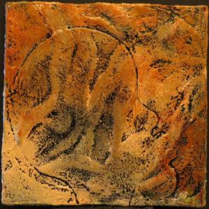 Ego, Oil on Paper by Ronald J. Walton, 12in x12in, $500 (June 2019)