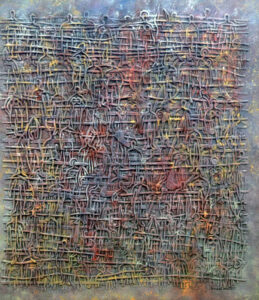 Rush Hour, Plastic on Corrugated Board by Ronald J. Walton, 44in x 38in, $7500 (June 2019)