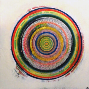 Gas Giant 45, Mixed Media on Canvas by Michael S. Broadway, 41in x 41in, $500 (July 2019)