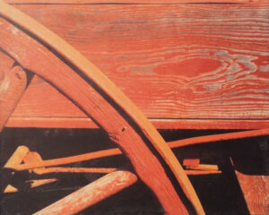 Red Wagon, Photography by Bob Worthy, 8in x 10in, $150 (July 2019)