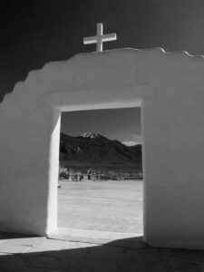 Gateway to Sangre de Cristo, Taos Pueblo, photograph by Dave Magyar, 12in x 9in (August 2019)