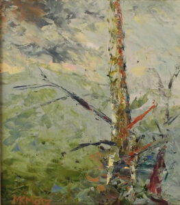 The Tree after Storm, Oil by Maria K. Motz, 9 7/8in x 6 5/8in, $380 (August 2019)