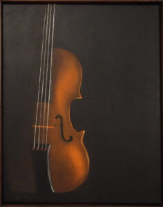 The Violin, Oils by Nancy Owens, 14in x 11in, $300 (August 2019)