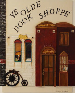 Ye Olde Book Shoppe, Paper Construction by Katharine K. Owens, 21in x 17in, $950 (August 2019)