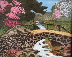 Blossoms and Bridge by James Clark (CBTC October 2019)