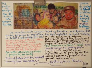 General Welfare, Distributive Power, Ink and Whiteboard by Bettie Grey (March 2016)