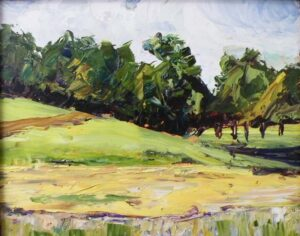 Vermont Vista, Oil on Board by Christina Weaver Smith (November 2013)