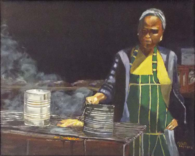 FIRST PLACE: Making Do, Oil by Collette Caprara (March 2016)