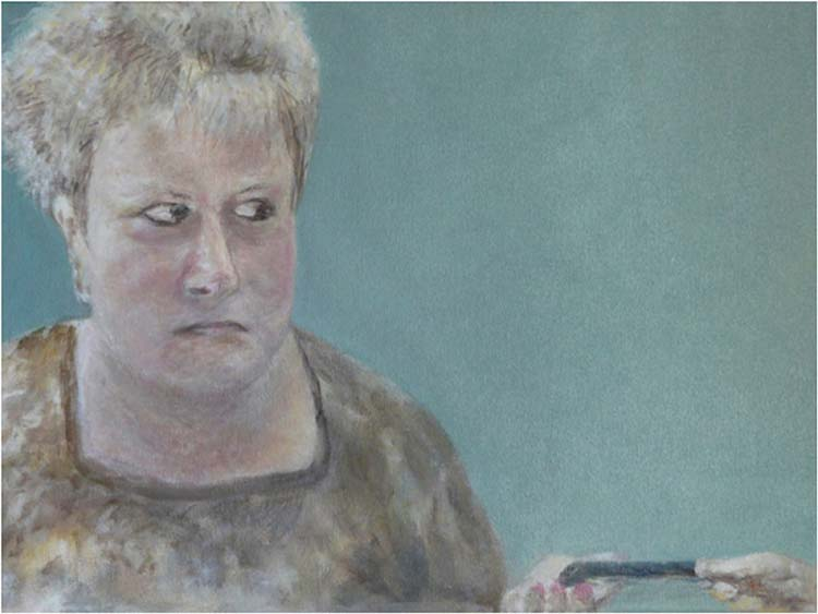 THIRD PLACE: The Look, Oil on Canvas by Elizabeth Shumate (March 2016)