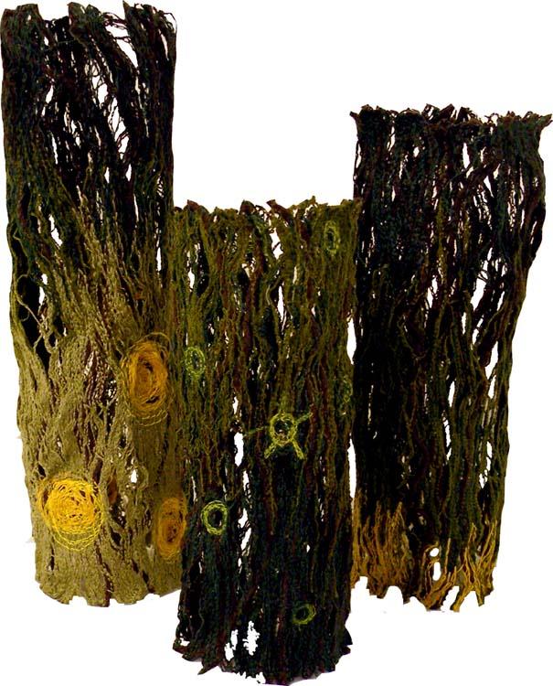 HONORABLE MENTION: Meadow Walk, Textile Sculpture by Joyce Leatherwood (Dec. 2013-Jan. 2014)