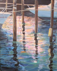 Twilight Harbor, Acrylic by Karen Julihn (November 2013)