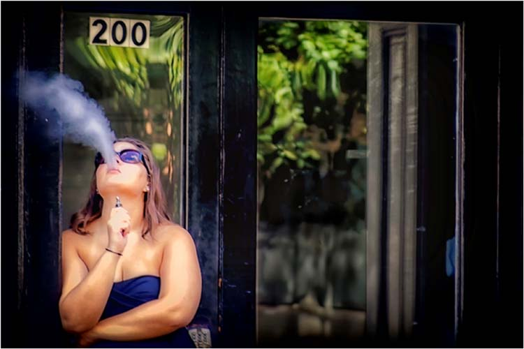 HONORABLE MENTION: Smoke Break, Photograph by Norma Woodward (March 2016)