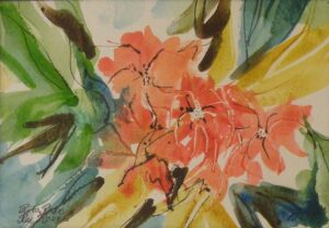 Garden Favorite Watercolor and Ink by Rita Rose and Rae Rose  (Dec. 2013-Jan. 2014)