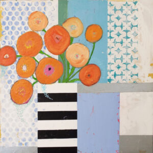 Poppies and Patterns, Acrylic on Board by Susan Tilt (April 2016)