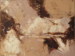 Dark Vista, OIl and Cold Wax by Bob Worthy, 12in x 16in, $350 (Dec. 2019 - Jan. 2020)