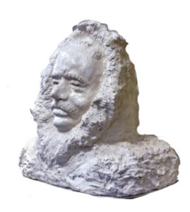 First Man to the North Pole, Reconstituted Marcle Sculpture; by Addison Likins, 17in x 18in x 11in, $4,600 (Dec. 2019 - Jan. 2020)