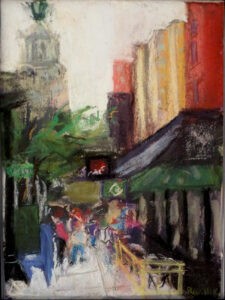 Gramercy Park, NYC, Pastel on Paper by Alan Rudnick, 9in x 12in, $325 (Dec. 2019 - Jan. 2020)