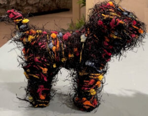 Wired Spotted Dog, Fiber Sculpture by Passle Helminski, 6.5in x 9in x 4in, $100 (Dec. 2019 - Jan. 2020)