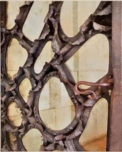 Gaudi Door, Barcelona, archival Metallic Photo by Deborah Herndon, 20in x 16in, $155 (Feb-May 2020 CBTC)
