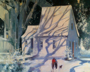 The -Counting House, Oil by Marcia Chaves, 24in x 30in, $800 (Feb-May 2020 CBTC)