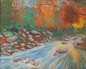 Autumn Tranquility, Watercolor by Adrian Hunt (June 2014)