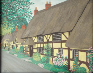 Thatched Cottages, Watercolor by Adrian Hunt (April 2014)
