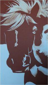 Horse, Paper Cut Away by Amberly Slack (February 2014)