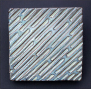 Rain, Slab Built Stoneware with Glaze by Anna Velkoff Freeman (May 2014)