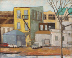 Old Town Architextures, Oil by Anne Parks (April 2014)