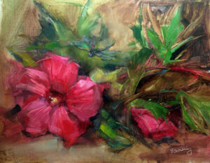 The Dragonfly, Oil on Linen by Barbara Schiling (November 2014)