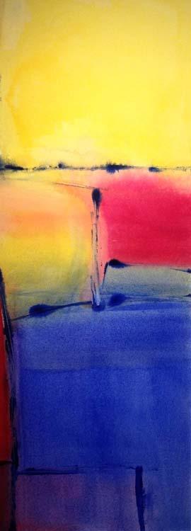 HONORABLE MENTION: Blue Horizon, Acrylic Painting by Barbara Taylor Hall (November 2014)