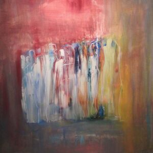 Gathering, Mixed Media by Barbara Taylor Hall (September 2014)