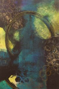 Through the Abyss, Mixed Media by Bev Bley (June 2014)