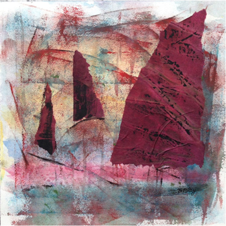 HONORABLE MENTION: Evening Sojourn, Mixed Media by Bev Bley (October 2014)