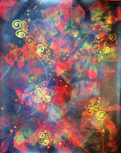 Jewels of the Night, Mixed Media by Bev Bley (November 2014)