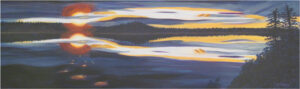 Sunset Over the Bay, Acrylic on Canvas by Bev Bley (February 2014)