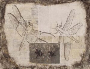 Dragonfly Waltz No 15, Mixed Media by Bob Worthy (June 2014)