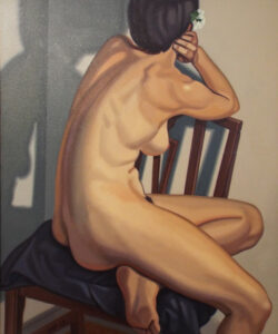 Seated Nude, Oil on Canvas by Bruce Day (September 2014)