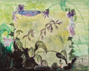 Hostas Sumi, ECollage by Carol Waite (April 2014)