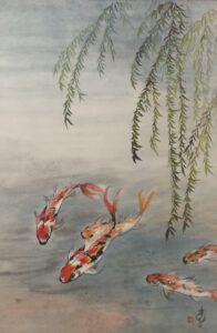 Koi and Willow, by Carol Waite (February 2014)
