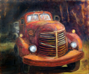 Big Red, Oil Painting by Carolyn R Beever (November 2014)