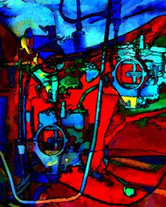 Internal Workings, Oil Painting by Carolyn R Beever (November 2014)