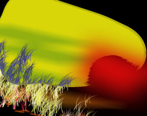 Sand and Sun, Digital Creation by Carolyn R. Beever (March 2014)