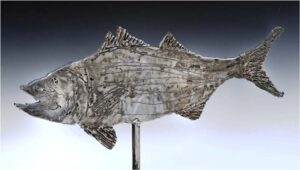 Striped Bass, Steel and Wood by Charles Bergen (July 2014)