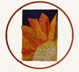A New Beginning, Fabric Art by Cindy Siira (February 2014)