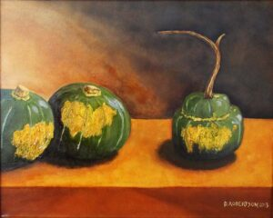 Squash Courage, OIl Painting by David Robertson (March 2014)