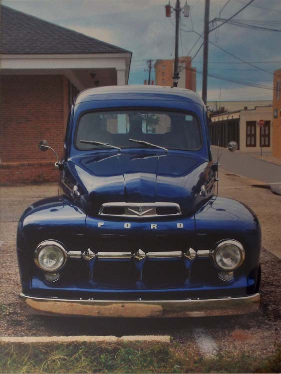 HONORABLE MENTION: Blue Ford Truck 1949, Metallic Photograph by Deborah D Herndon (December 2014/January 2015)