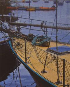 Boat Prow, Brittany, Metallic Photograph by Deborah D Herndon (November 2014)