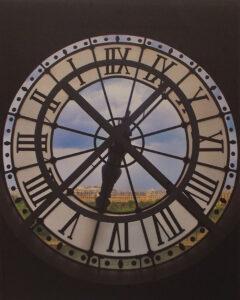 Inside Out Clock Paris, Metallic Photograph by Deborah D Herndon (October 2014)